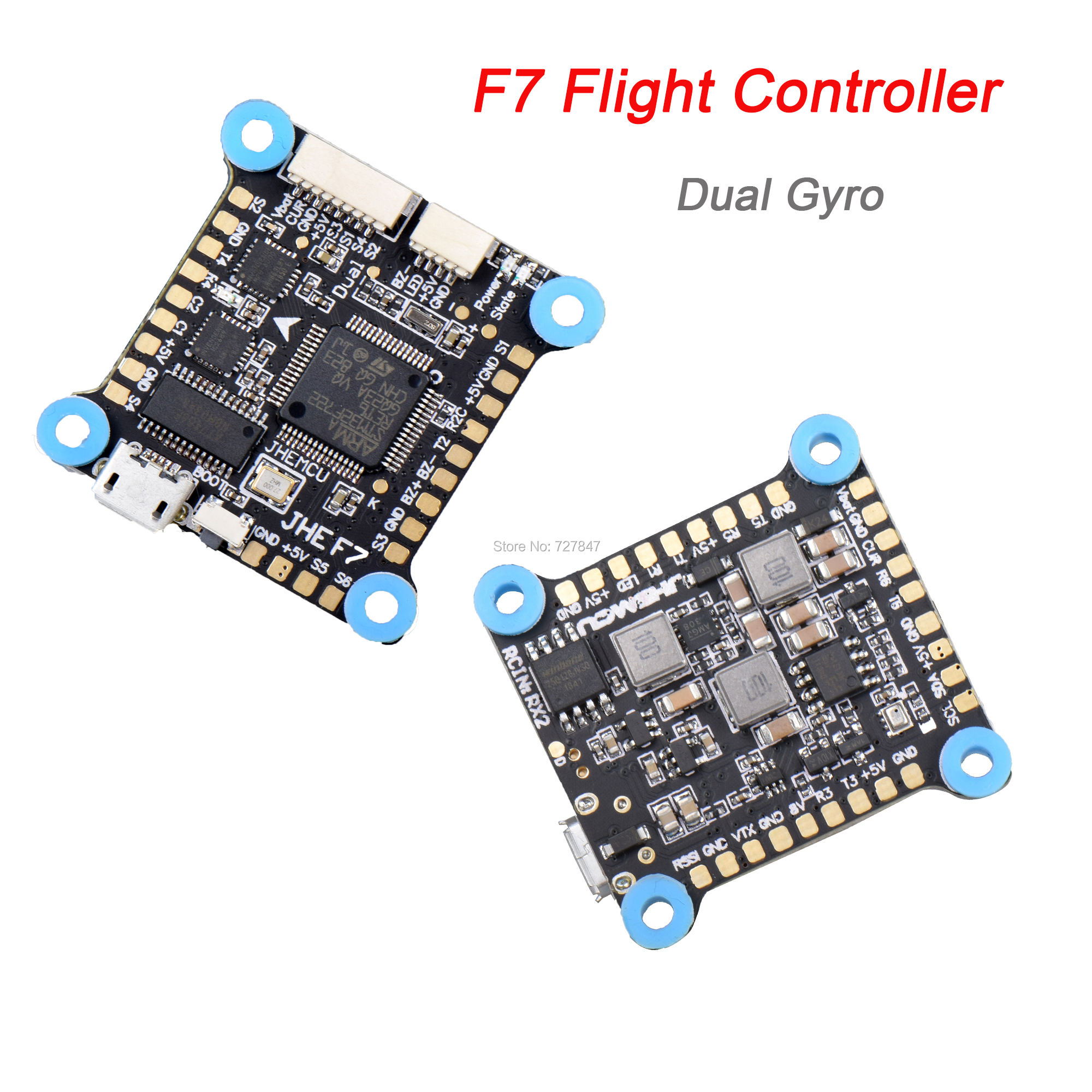 NEW F7 Flight Controller Dual Gyro AIO OSD 5V 8V BEC & Black Box 2-6S for RC Drone FPV Racing Multicopter