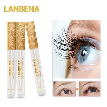 LANBENA pestañas suero de crecimiento potenciador de pestañas maquillaje cejas pestañas líquido grueso tratamientos 7 días alargar más cuidado de los ojos