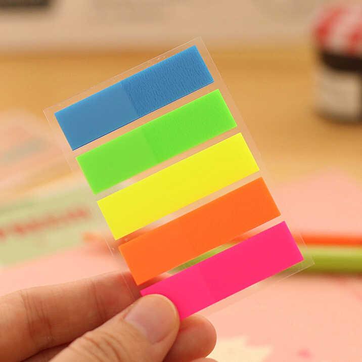 Ellen Brook, 1 шт., липкие блокноты Filofax, офисные школьные принадлежности, канцелярские принадлежности, Радужный флуоресцентный индекс, блокнот, заметки