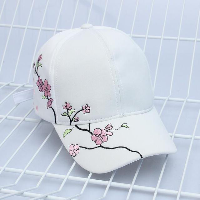 High Quality Unisex Cotton Outdoor Baseball Cap Plum embroidery Embroidery Snapback Fashion Sports Hats For Men & Women Cap 10