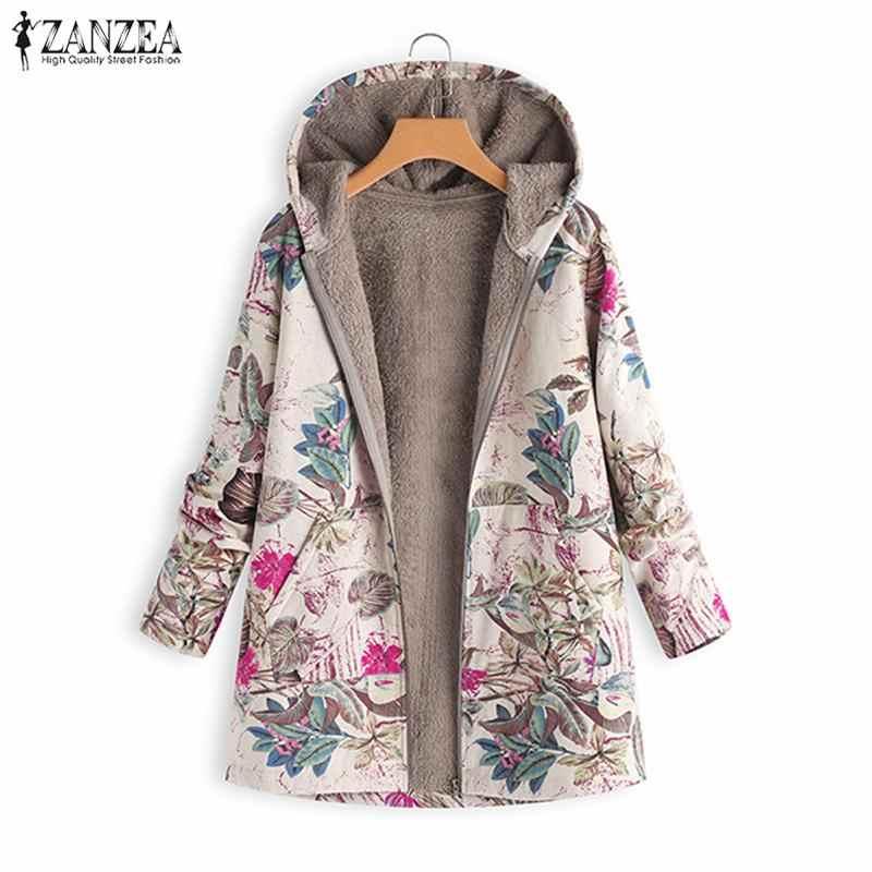 41296b03c55 S 5XL ZANZEA Women Open Stich Faux Fur Coat 2018 Winter Plush Fluffy Jackets  Vintage Hooded