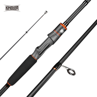 Kingdom Fortitude Keel III Carbon Salmon Spinning Fishing Rods 2.4m 2.7m 3m Fishing Rods M MH Fast Action Feeder Rod For bass