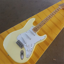 Factory Special Price Cream Electric Guitar with Scalloped Neck Big Headstock Chrome Hardware Can be Customized sg guitar customization lp guitar customization mahogany material headstock logo body color ect can be customized according to u