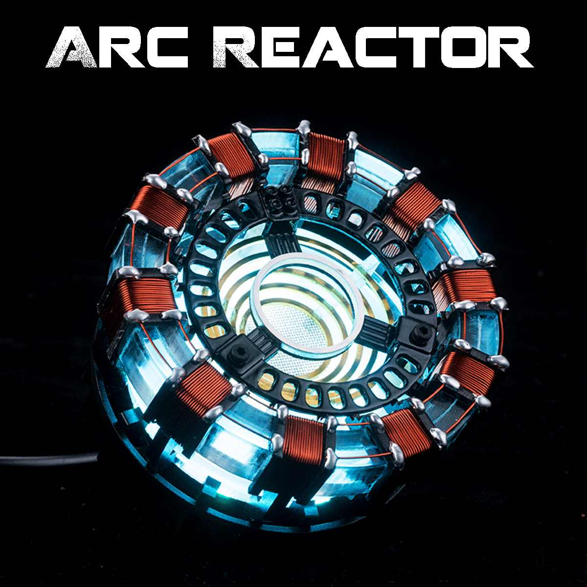 Free Fast Shipping 1:1 Scale Arc Reactor Need To Assemble Reactor Diameter Of 8cm With LED Light Action With English Manual MK1(China)