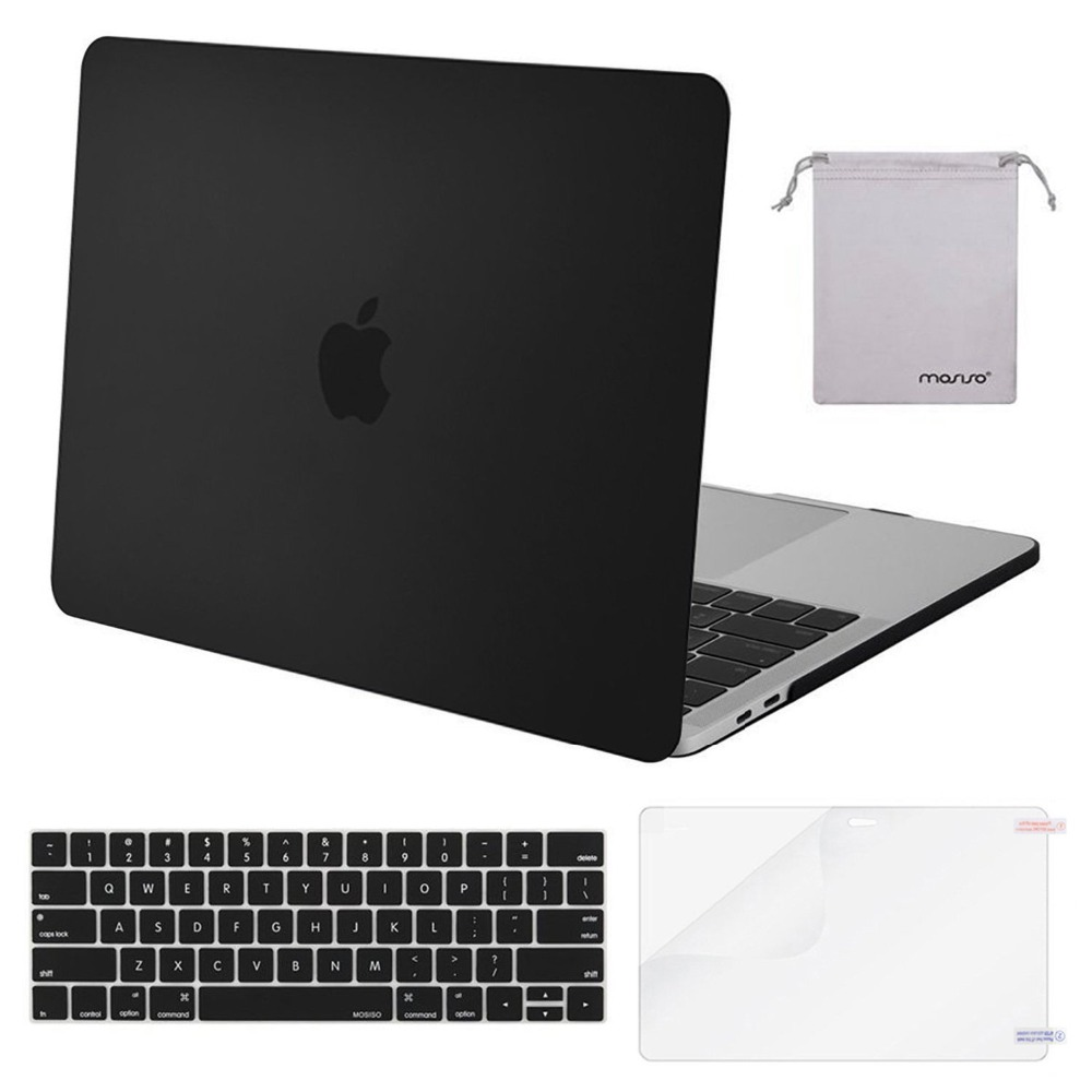 Mosiso Laptop Black Shell Cover Case for Macbook Pro 13 15 with/no touch bar A1708 A1706 A1990 Cases Accessories 2016 2017 2018Mosiso Laptop Black Shell Cover Case for Macbook Pro 13 15 with/no touch bar A1708 A1706 A1990 Cases Accessories 2016 2017 2018
