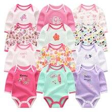 Dziewczynka ubrania jednorożec body 0 12M Roupas de bebe Baby Boy ubrania paskiem kombinezon noworodka bawełna Babywear dziewczyny ubrania