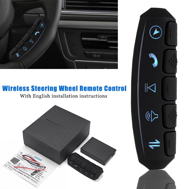12-24 Volt Universal LED backlight Wireless Remote Control Car Steering Wheel 10 Button Remote Control Car