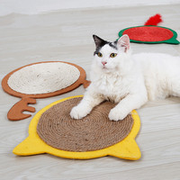 1Pcs New Cat Scratch Board Mat Retro Wall Painting Decoration Deer Sisal Pad Cute Grinding Paw Cat Toy Claws Sleeping Cat Mats