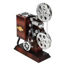 Antique Retro Movie Film Projector Music Box Wood Metal Musi