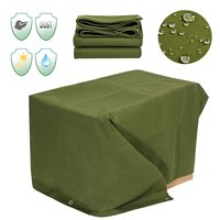 6x8FT Heavy Canvas Sunshade Cloth Canopy Tarp Tarpaulin Waterproof Dustproof Shelter Outdoor Awning Accessories Green