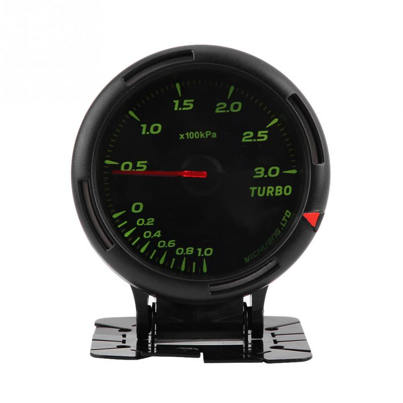 12V 64 Color LED Backlight Turbo Boost Gauge Meter 300KPa with Sensor for Auto Racer Car 0~300KPa Universal
