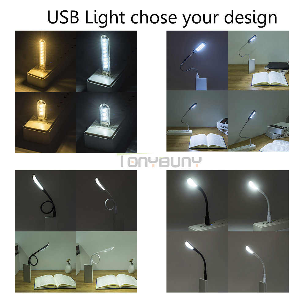 TONYBUNY Gift Usb led desk lamp 1W 3W table flexible Usb desk light decorate table lighting