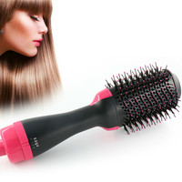 Professional Electric Hair Dryer Comb hot air comb Infrared Negative Ion Straight Hair Curling Comb Hair Brush Styling Tools