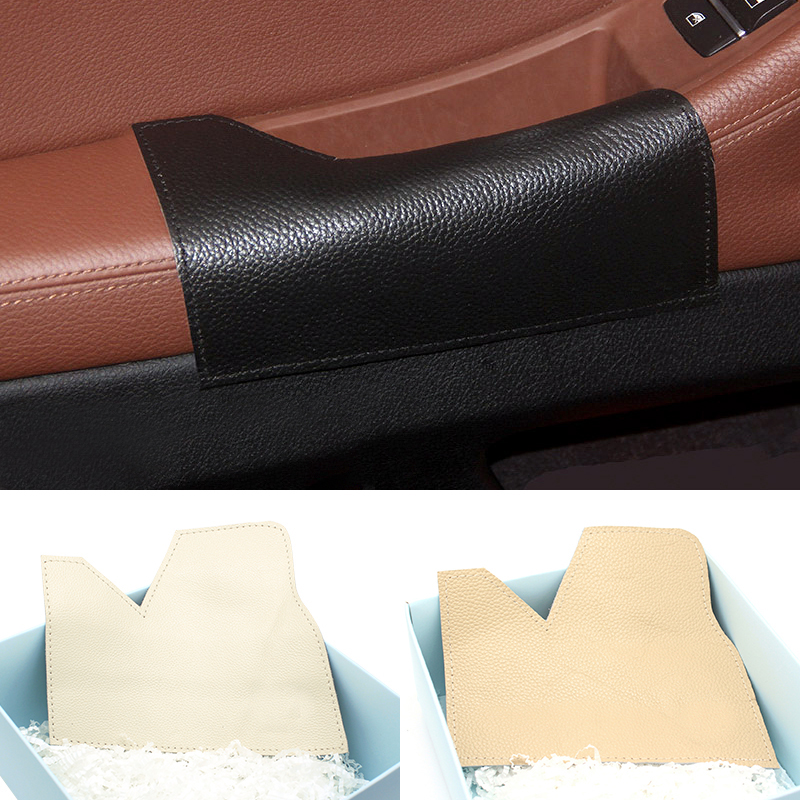 Car Styling Interior Left Driving Side Cow Leather Door Armrest Handle Bowl Pull Protection Cover for BMW 5 Series F10 2011 2017-in Interior Mouldings from Automobiles & Motorcycles