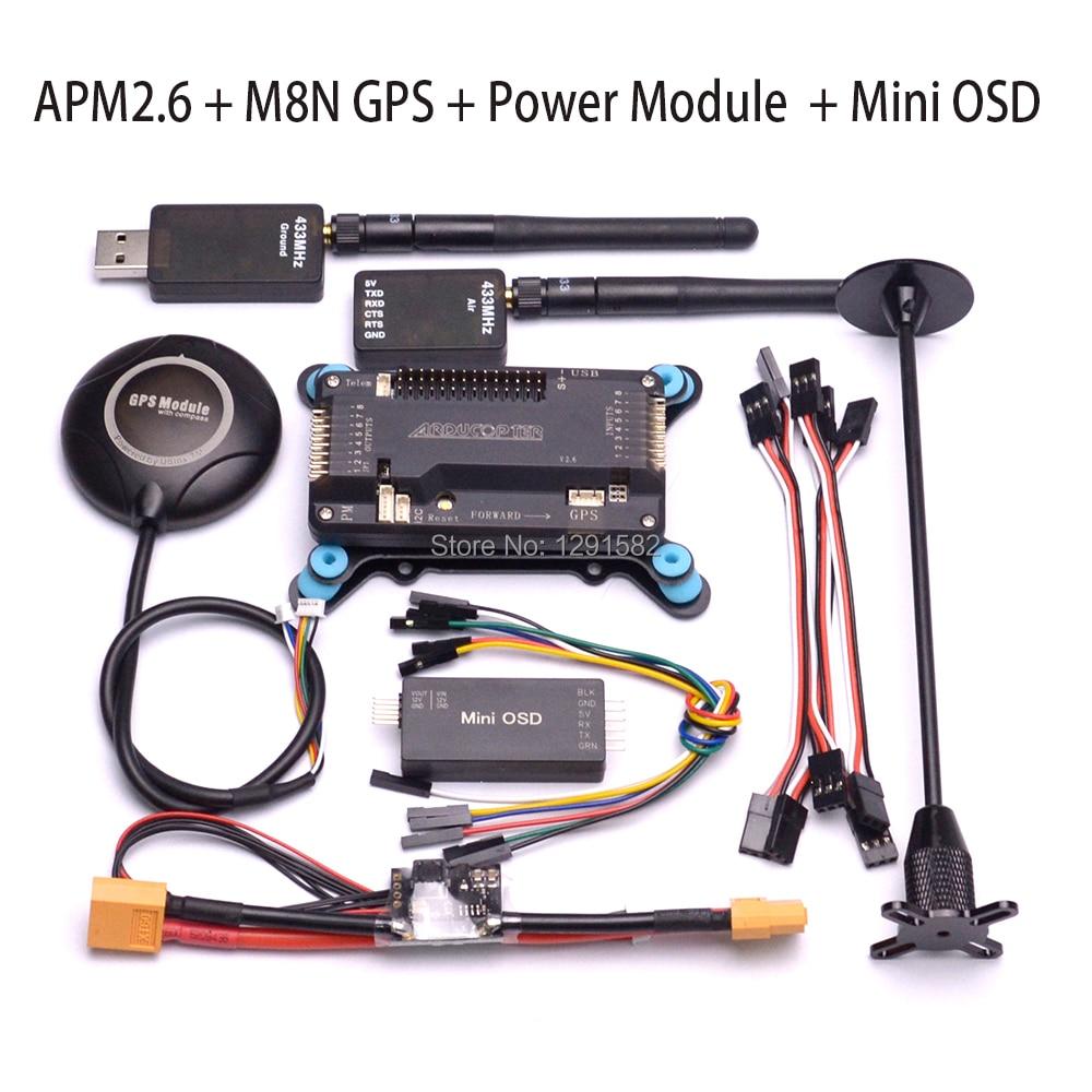 APM2.6 APM 2.6 carte contrôleur de vol M8N GPS avec boussole Mini Module d'alimentation OSD support socle GPS pour F450 S500 S550-in Pièces et accessoires from Jeux et loisirs    1