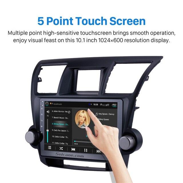 Seicane Android 9.1 10.1 pouces autoradio pour 2014 2015 Toyota Highlander 2Din tête unité Wifi GPS Navigation lecteur multimédia