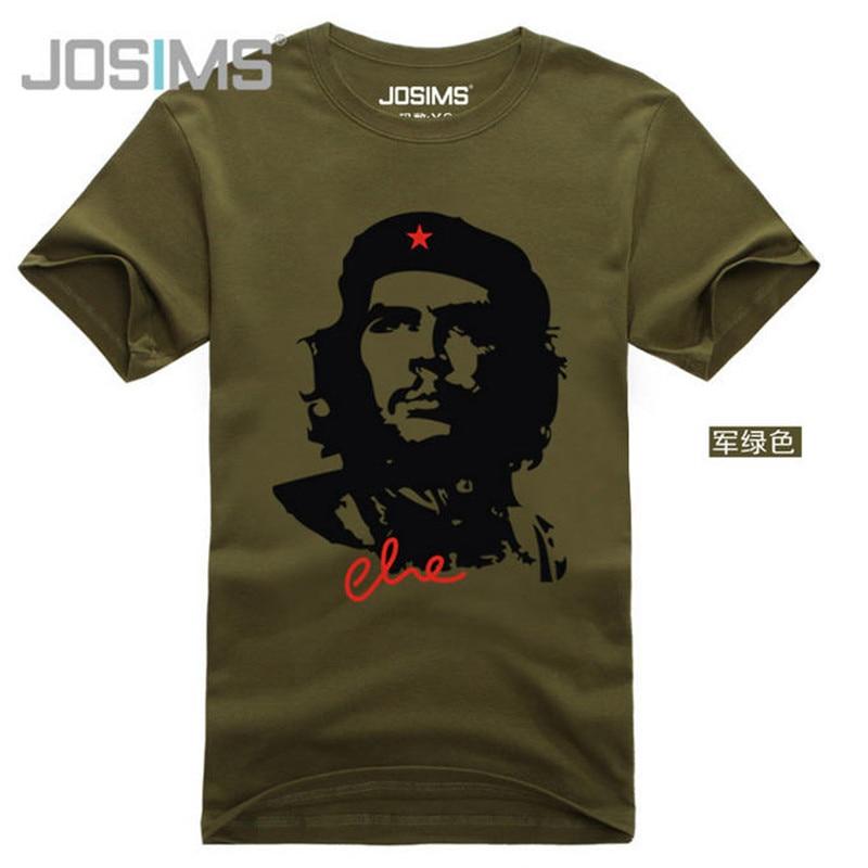 Տղամարդկանց կոկիկ բամբակյա վերնաշապիկների նորաձևություն CHE GUEVARA Տղամարդկանց կարճ թև բարձրորակ շնչառական ամառ տպագիր շապիկ Camisetas A835