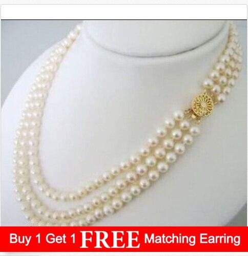 collier ras de cou perle blanche