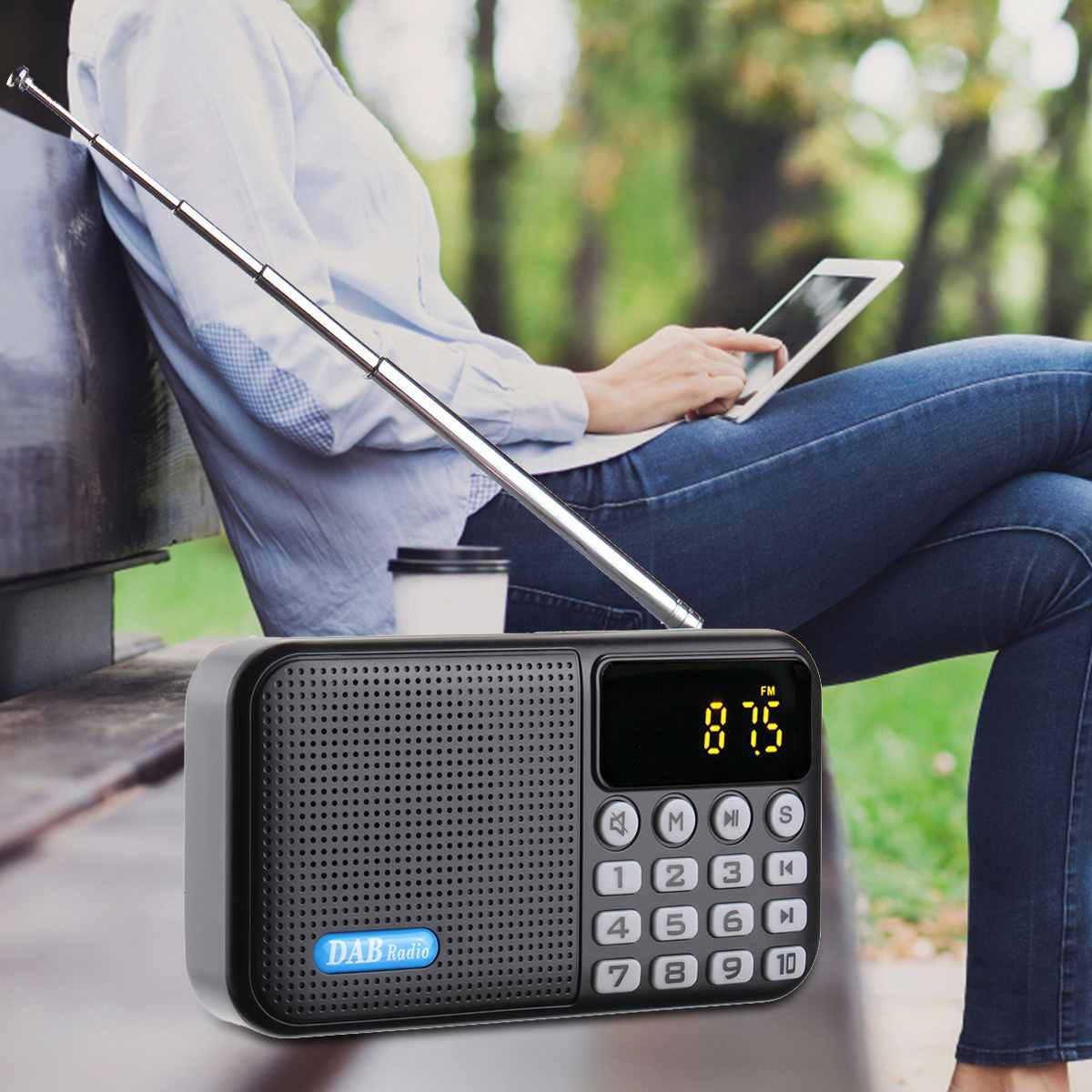 Récepteur de lecteur Radio numérique Portable DAB + FM avec haut-parleur stéréo bluetooth récepteur FM extérieur lecteur de musique avec batterie