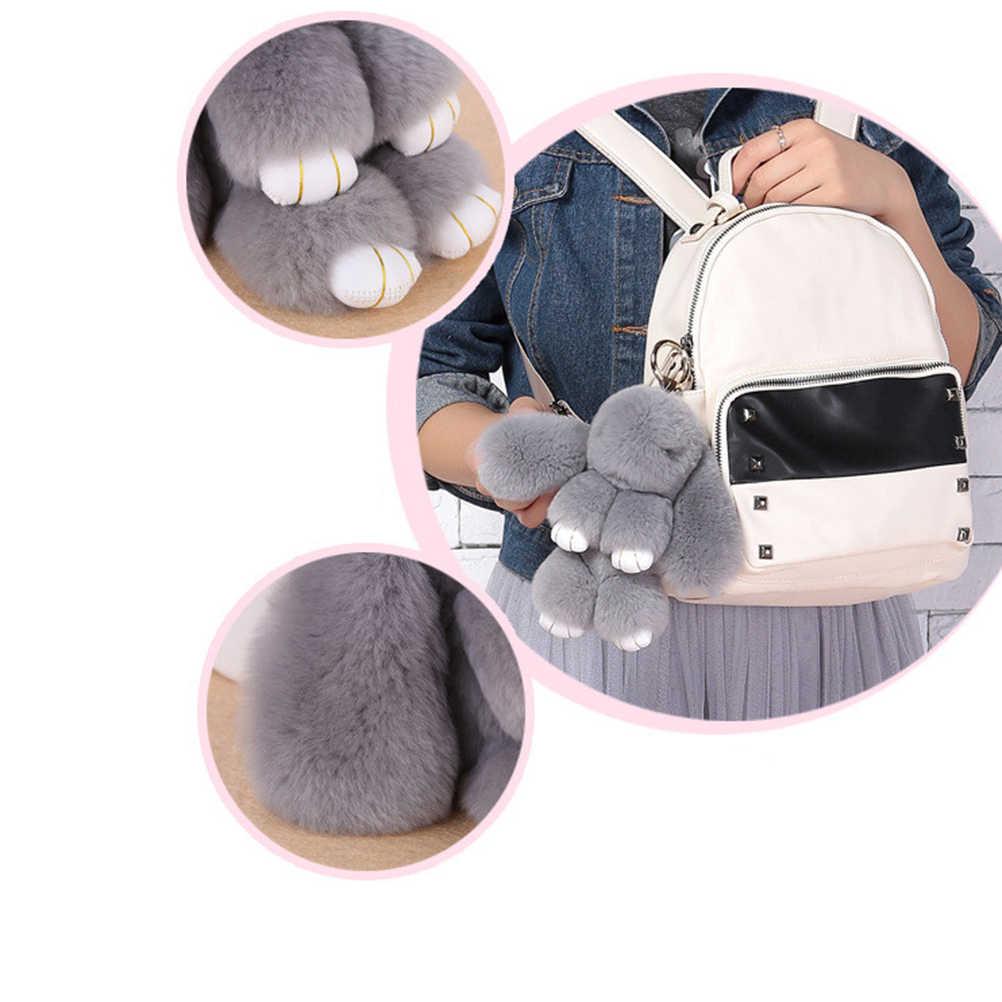 Плюшевый кролик брелок Мягкая игрушка кролик орнамент для сумки и автомобиля (серый)