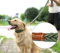 Durable Braided Poly Nylon Dog Slip Leads, Animal Control Kennel Slip Leads Strong Leashes For Dog Doggy Daycare Or Pet Training