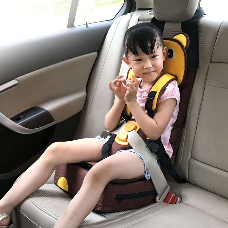 With Seat Belt Harness Baby Travel Booster Seat High Chair Infant Toddler Foldable/Washable/ Adjustable/ Kids Folding Seat 6M-6Y