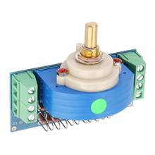 12 Step Stepping Stereo Volume Potentiometer Dual 50K Amplifier Pot dual channel Volume Rotary Switch Measuring Instrument Hot(China)