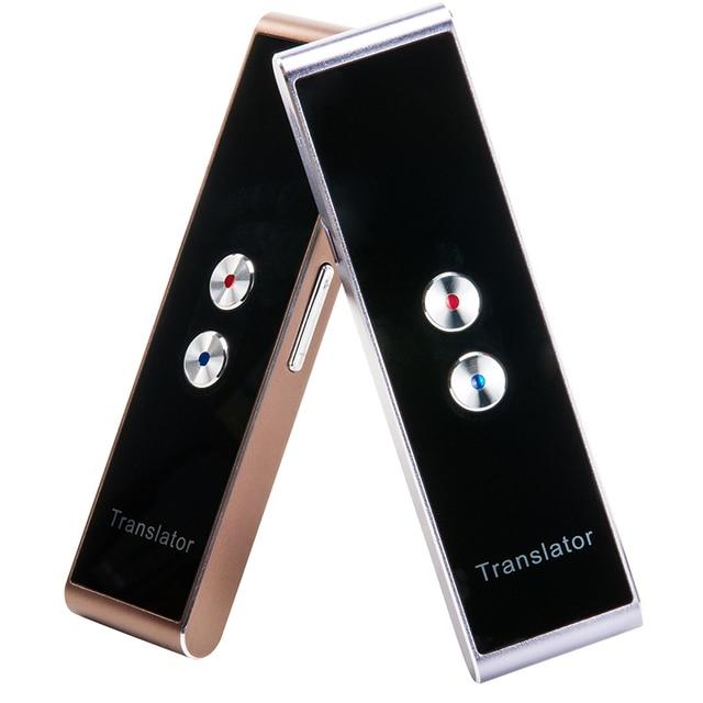 Portable multi language Voice translator pocket smart translation Bluetooth receiver Real Time Two Way instant translator