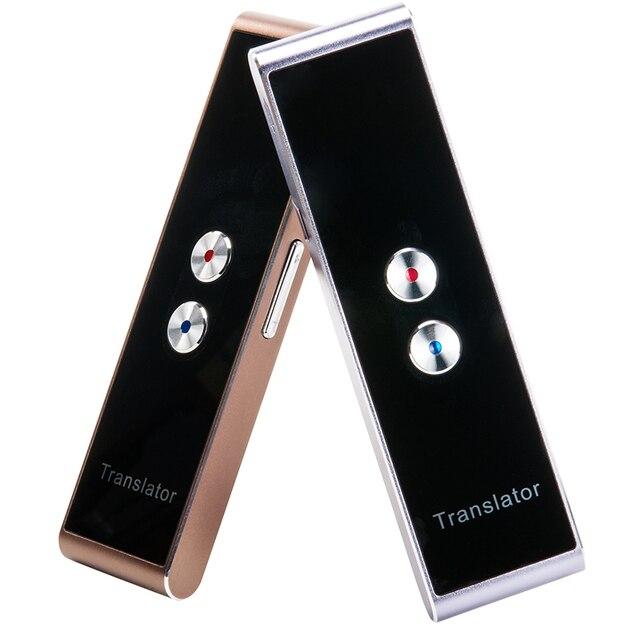 Traductor de voz multilingüe portátil, receptor de traducción inteligente con Bluetooth, traductor instantáneo bidireccional en tiempo Real