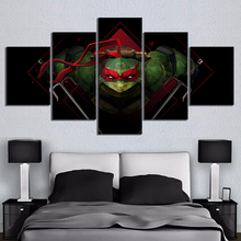 5 Piece Mutant Ninja Turtle Figure Animation Canvas Printed Wall Pictures Home Decor For Living Room Poster Wholesale