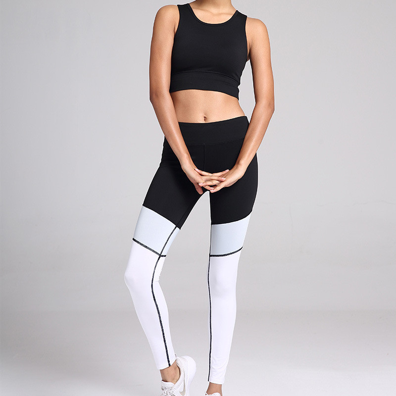 2019 Sexy Two Piece Sport Suit Women Yoga Set Short Sleeve Crop Top Leggings Sexy Yoga Wear Fitness Track Suit Sportswear in Yoga Sets from Sports Entertainment