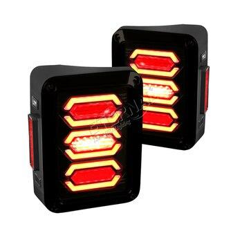 free ship pair led tail lamp US/EU edition reverse brake turn signal LED tail light for offroad jeep wrangler JK 07-16 4x4 truck
