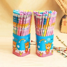 NEW Large-capacity HB eraser cartoon 72 cute bucket primary school students children writing pencil Affordable