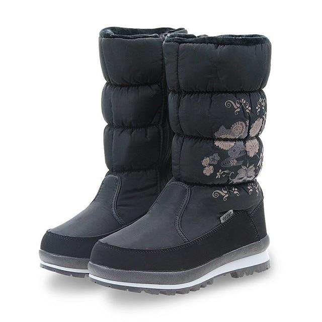 GOGC Mới Arrial nữ Mùa Đông Giày Boots Cao Thoải Mái Hoa Hoa Giày Bốt nữ Mùa Đông Giày cho Nữ Mùa Đông 9620