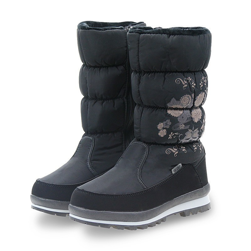 GOGC women's boots winter Women's Winter High Boots Women Snow Boots Winter Women's boots Waterproof Ankle Boots Flat shoes 9620-in Mid-Calf Boots from Shoes    1