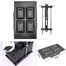 New Car Storage Battery Holder Firm Plastic Stabilized Tray Hold Down Clamp Silver Black