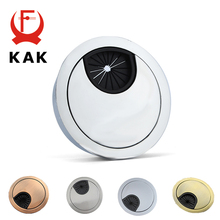KAK Zinc Alloy Desk Wire Hole Cover Base Computer Grommet Table Cable Outlet Port Surface Line Box Organizer Furniture Hardware trabzonspor fenerbahce