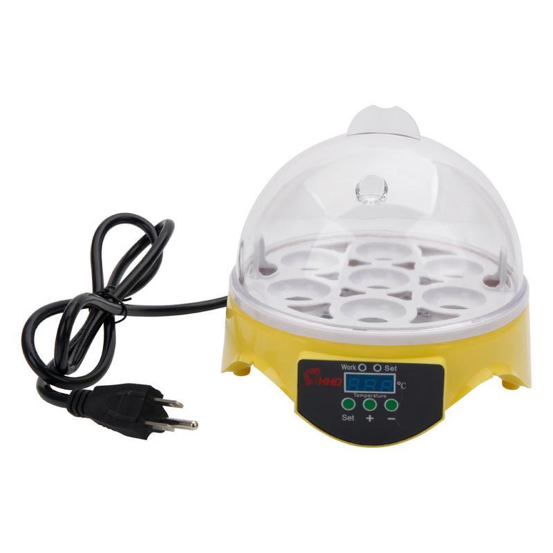 Mini 7 Egg Automatic Incubator Poultry Brooder Digital Temperature Hatchery Chicken Duck Bird