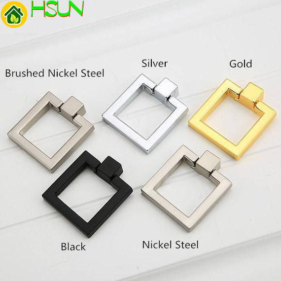Square Drop Rings Pulls Knobs Cabinet Door Knobs Handles Dresser Knob Pulls Drawer Handles Knob Silver Gold Black FurnitureSquare Drop Rings Pulls Knobs Cabinet Door Knobs Handles Dresser Knob Pulls Drawer Handles Knob Silver Gold Black Furniture