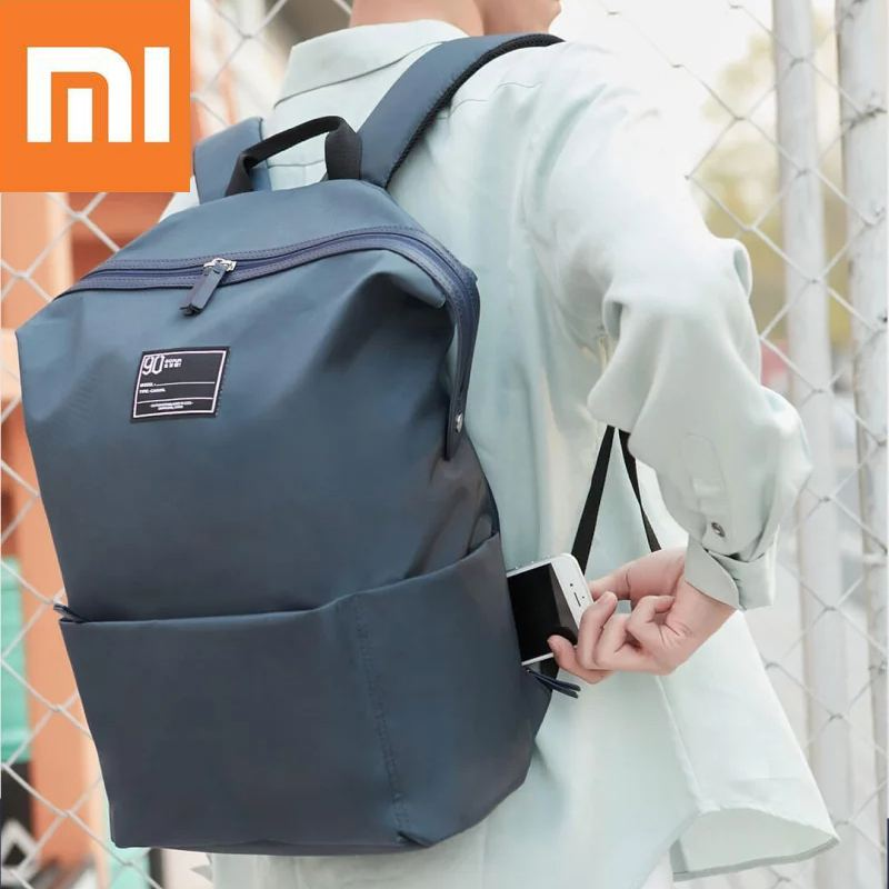 47c5f1002cf4 Xiaomi 90 Fun Lecture 13.3inch Laptop Backpack 75D Nylon Waterproof Leisure  Shoulder Bag for Outdoor Travel backpack-in Backpacks from Luggage   Bags  on ...