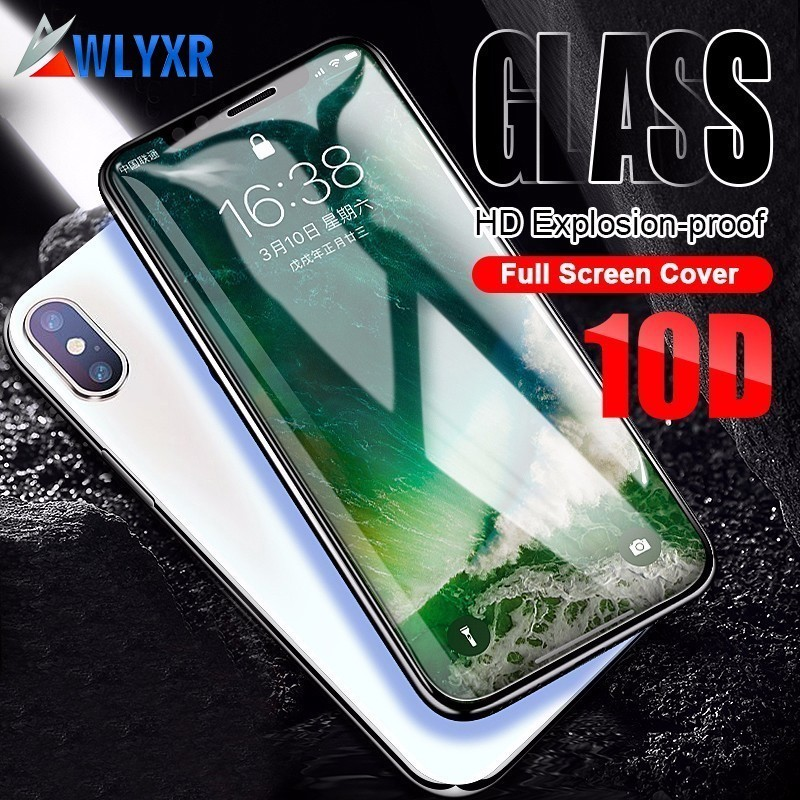 Full Cover 10D Edge Tempered Glass For iPhone 7 8 Glass iPhone XR XS Max Protective Film For iPhone X 6 Plus Screen Protector image