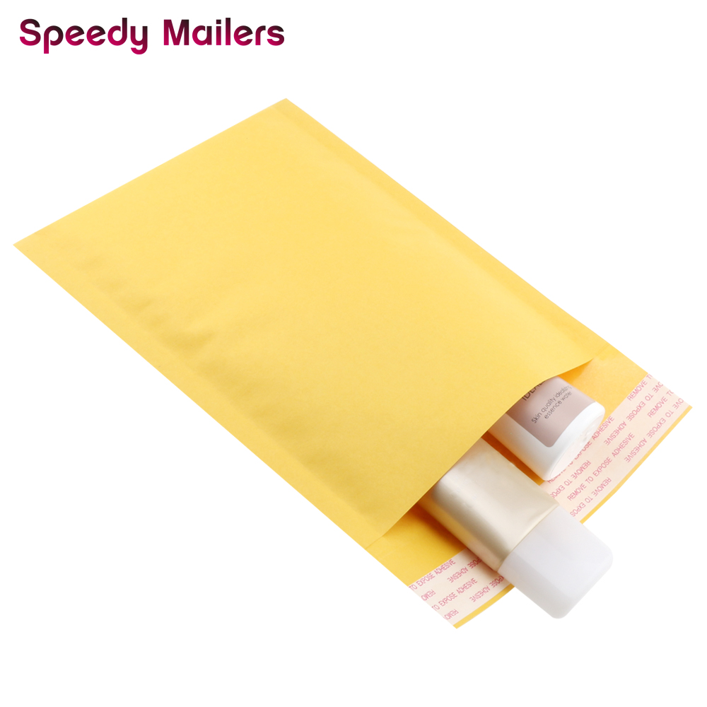 Speedy Mailers 10pcs 4.3x5.1-Inches/110x130mm Golden Kraft Bubble Mailers Padded Bubble Envelopes Shipping Bags Mailer/jiffy Bag