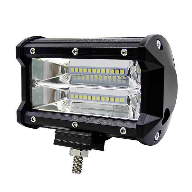 LED Work Light Bar Flood Lamp 5inch 72W 2-Row for Off-road SUVs Boats Jeeps Light Bar/Work Light 132 X 63 X 50mm