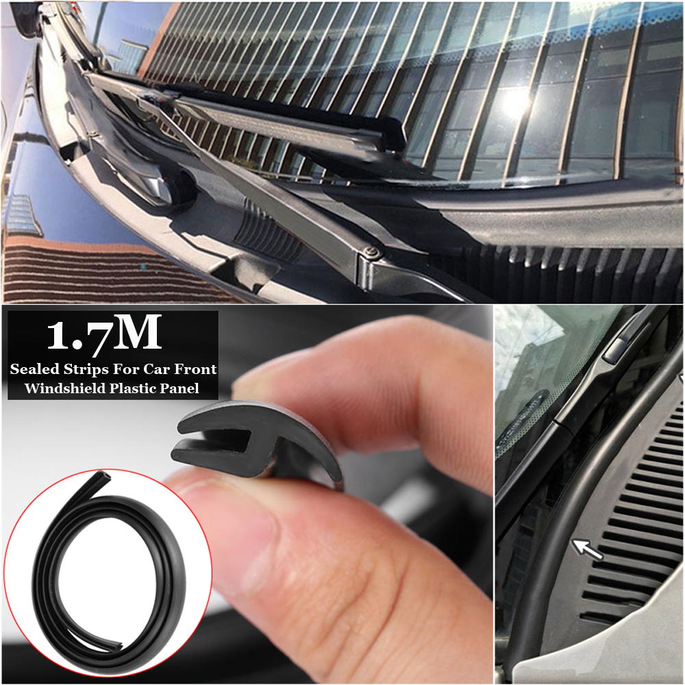 1.7M h-type Black Rubber Seal Strip for Car Front Windscreen Wiper Windshield