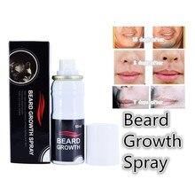 Men Face Beard Growth Spray Hair Loss Product Mustache Thicker Fuller Men Beard Oil Styling Spray Kit