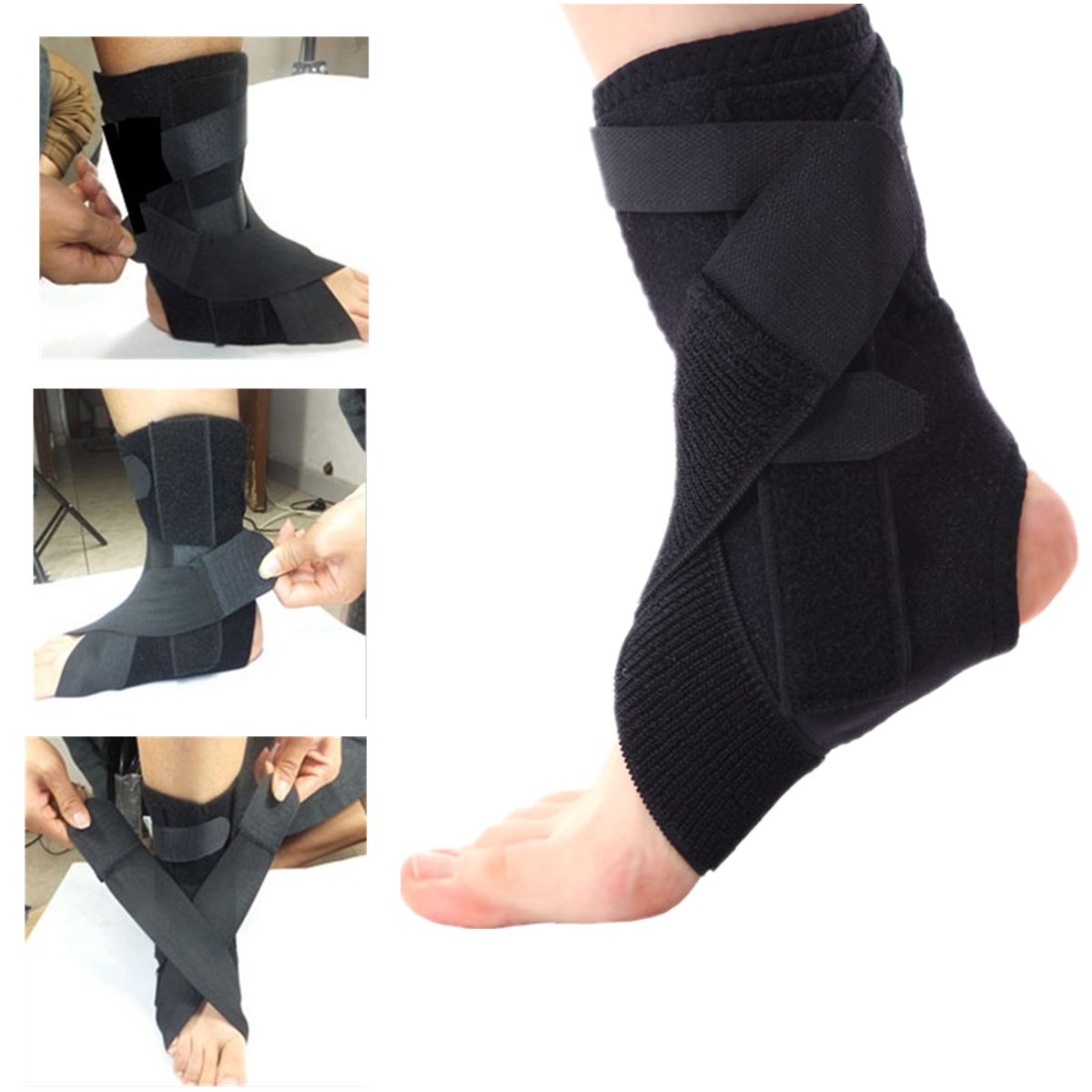 1pcs Sports Safety Ankle Support Pad Protection Ankle Bandage Elastic Brace Guard Support Sports Gym Foot Wrap Protection
