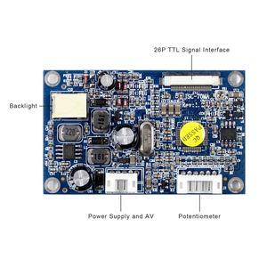 Image 3 - สำหรับ 7 นิ้วหน้าจอ LCD อินพุต CVBS CONTROLLER BOARD สำหรับ 26Pin อินเทอร์เฟซ TTL หน้าจอ LCD HSD070I651 AT070TN07 480x234 ความละเอียด