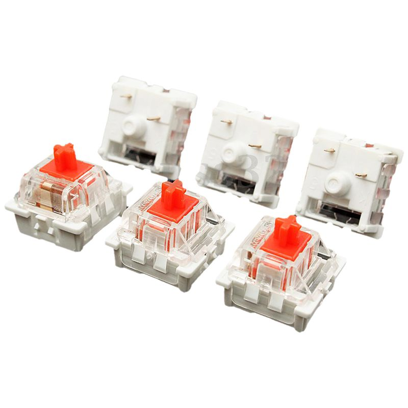 10Pcs Plastic For Cherry Red 3 Pin MX RGB Mechanical Switch Keyboard Replacement
