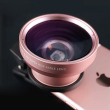 Universal 2 In 1 Clip Wide-Angle Lens for iPhone 4S 5 5S 6 6S 7 8 Plus Fish Eye Wide Angle Macro Lenses for iPhone X XS Max XR(China)