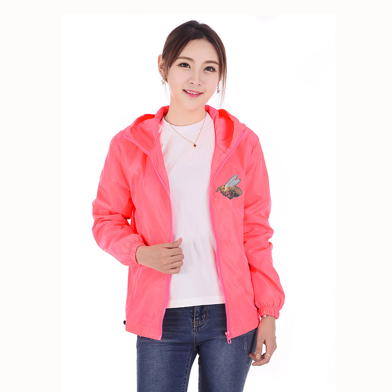 Fashion Bomber   Jacket   Women Spring Summer   Basic     Jacket   Thin Windbreaker Parentage Clothes Embroidery Animal College   Jackets   7XL